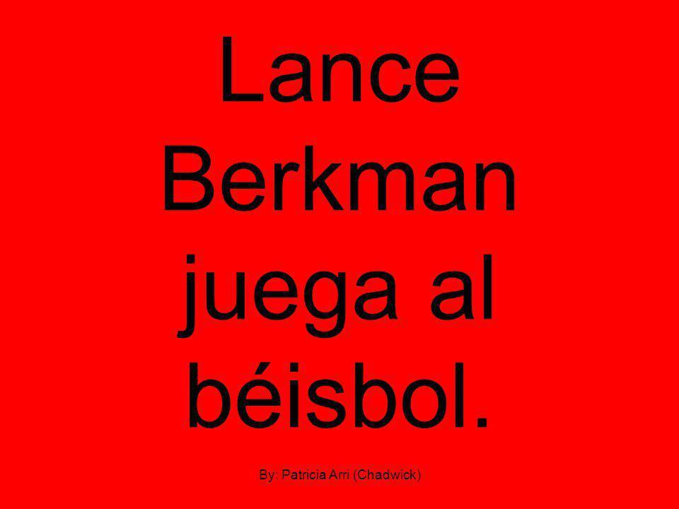 Lance Berkman juega al béisbol. By: Patricia Arri (Chadwick)
