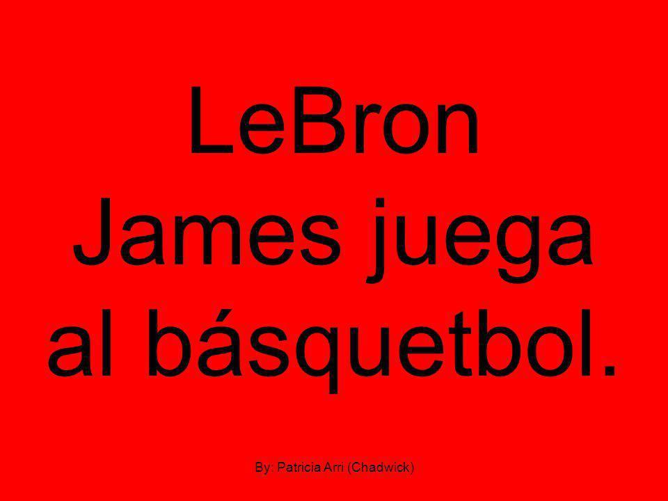 LeBron James juega al básquetbol. By: Patricia Arri (Chadwick)