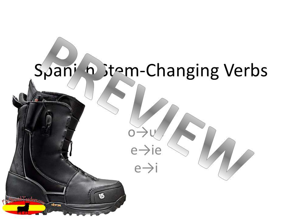 Spanish Stem-Changing Verbs oue eie ei