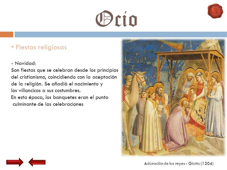 Ocio Fiestas religiosas - Navidad: Son fiestas que se celebran desde los principios del cristianismo, coincidiendo con la aceptación de la religión. S