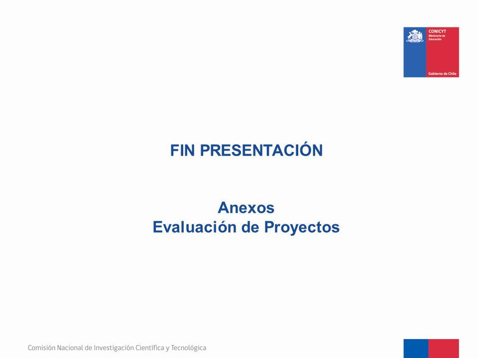FIN PRESENTACIÓN Anexos Evaluación de Proyectos