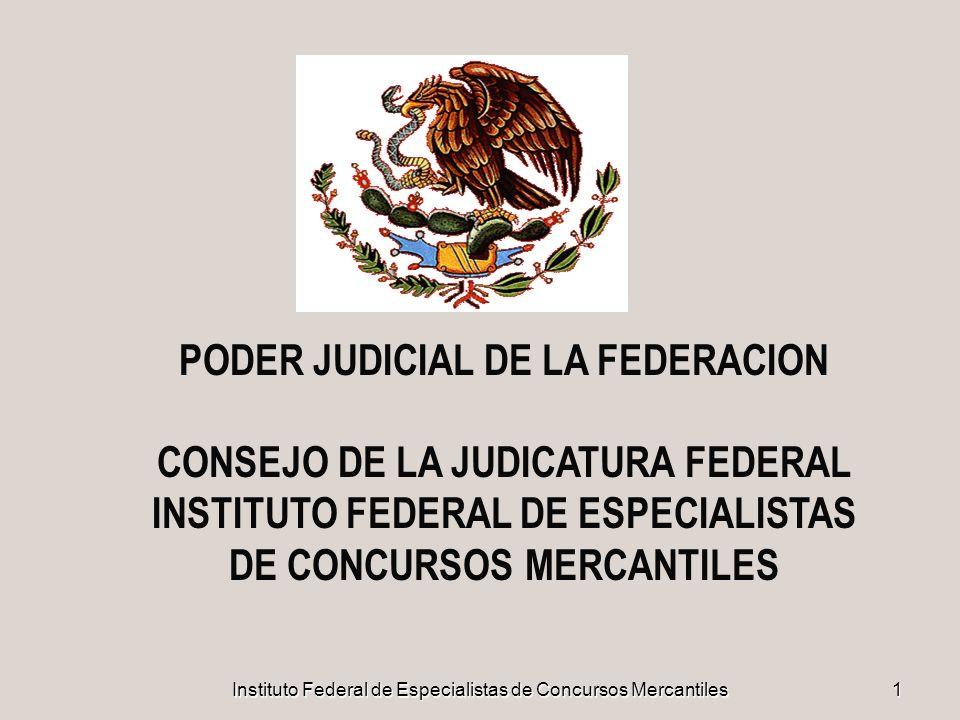Instituto Federal de Especialistas de Concursos Mercantiles22 PARTICIPACIÓN DE ESPECIALISTAS I LOS ÓRGANOS DE LA QUIEBRA NO SE INTEGRARON O FUNCIONARON EN LA FORMA PREVISTA EN LA ANTIGUA LEY DE QUIEBRAS Y SUSPENSIÓN DE PAGOS, EN PARTICULAR LA SINDICATURA.