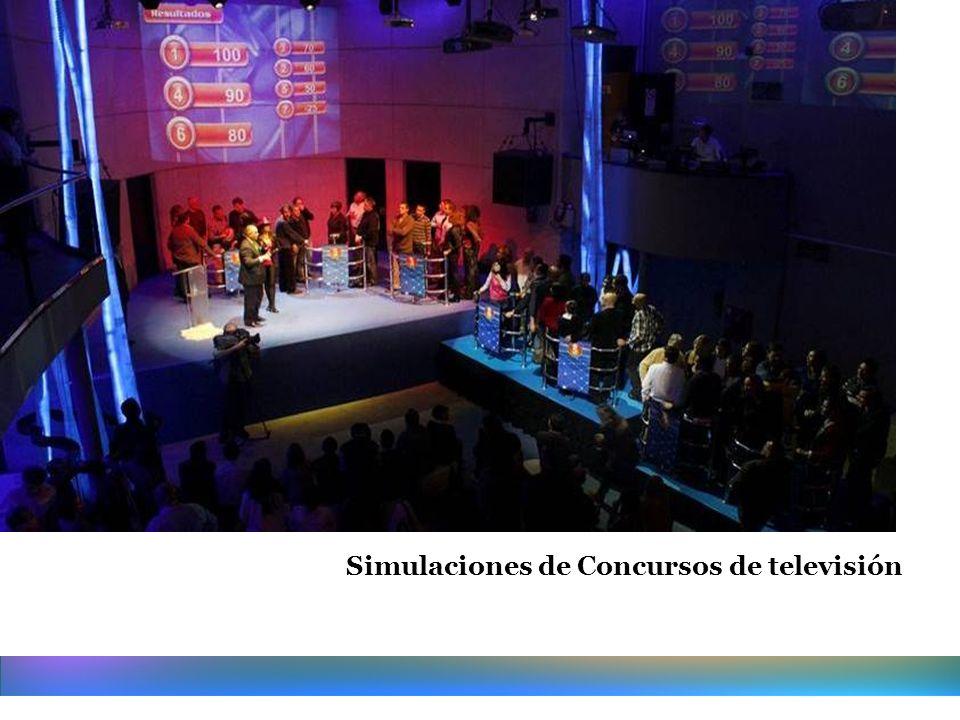 Simulaciones de Concursos de televisión Siente la emoción del directo!