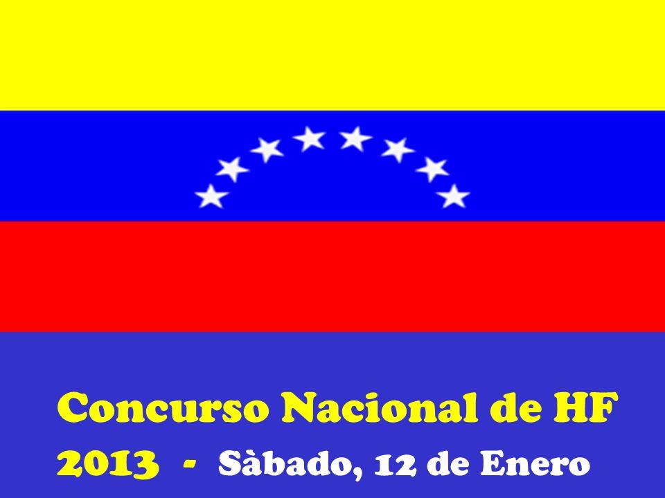 Concurso Nacional de HF 2013 - Sàbado, 12 de Enero