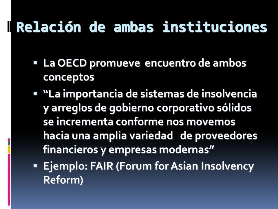 Relación de ambas instituciones La OECD promueve encuentro de ambos conceptos La OECD promueve encuentro de ambos conceptos La importancia de sistemas