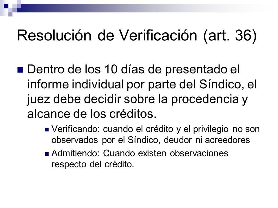 Resolución de Verificación (art.