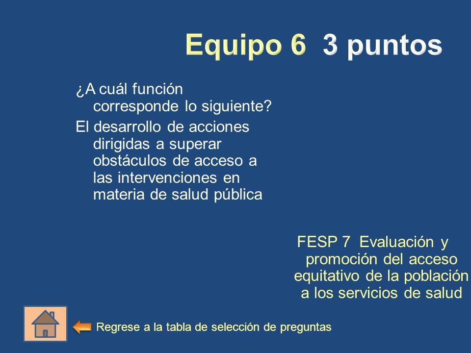¿A cuál función corresponde lo siguiente? El desarrollo de acciones dirigidas a superar obstáculos de acceso a las intervenciones en materia de salud