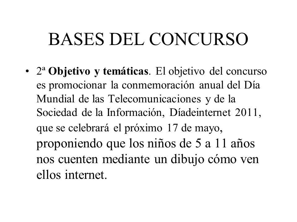 BASES DEL CONCURSO 2ª Objetivo y temáticas. El objetivo del concurso es promocionar la conmemoración anual del Día Mundial de las Telecomunicaciones y
