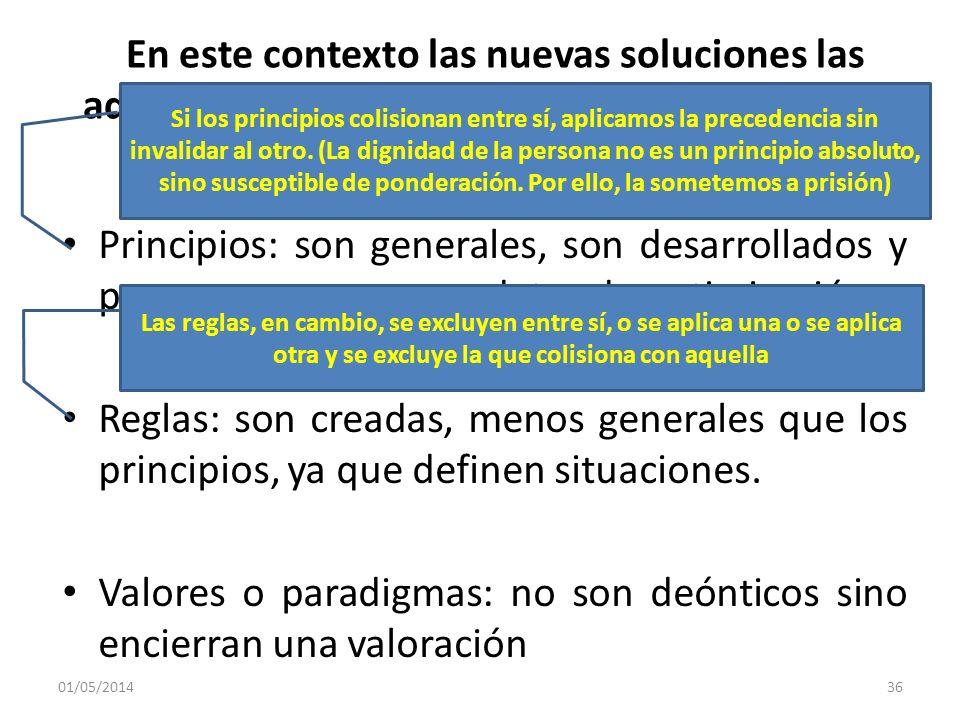En este contexto las nuevas soluciones las adoptamos con tres tipos de instrumentos que se conjugan con las normas Principios: son generales, son desa