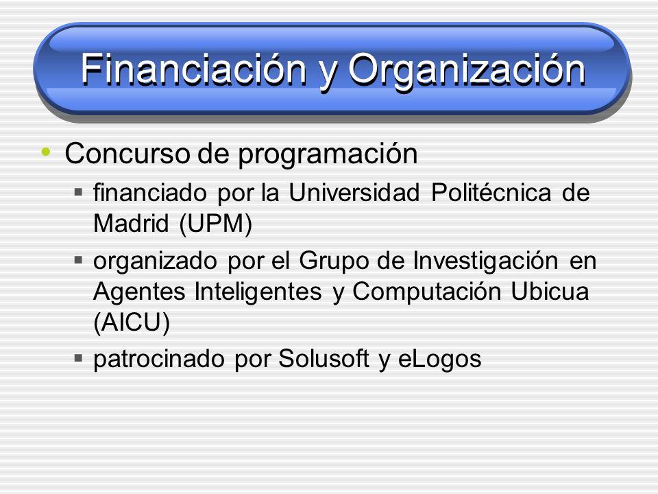 Financiación y Organización Concurso de programación financiado por la Universidad Politécnica de Madrid (UPM) organizado por el Grupo de Investigació