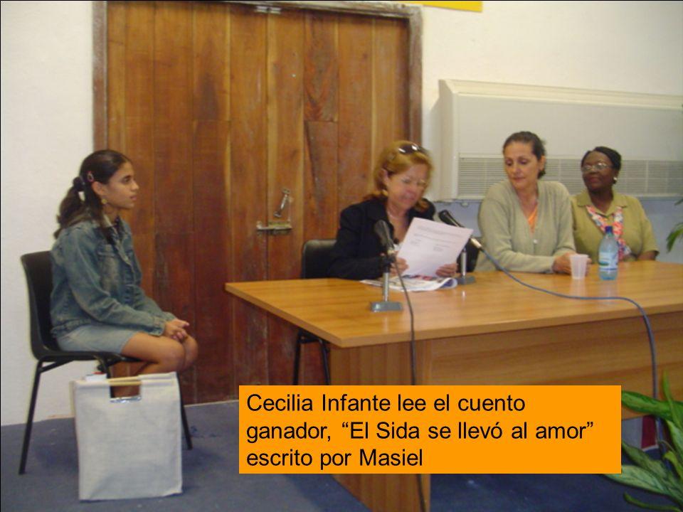 Cecilia Infante lee el cuento ganador, El Sida se llevó al amor escrito por Masiel