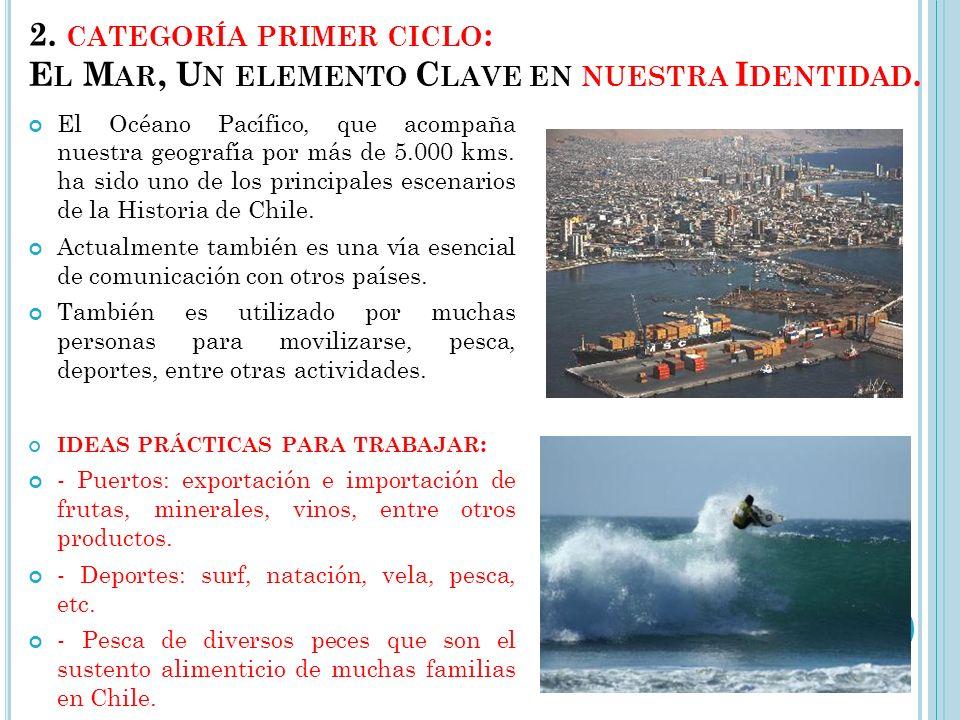 1. CATEGORÍA PRE - ESCOLAR : E L MAR : SU FLORA Y FAUNA. La costa chilena, que se extiende por más de 6.000 kilómetros, tiene características que la h
