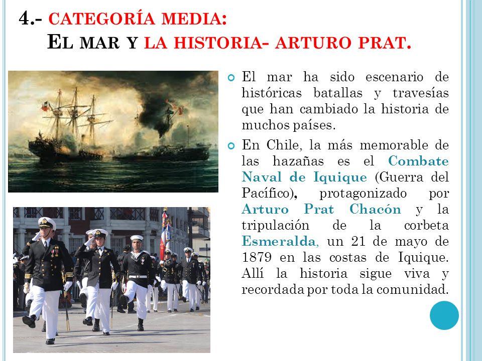 4.- CATEGORÍA MEDIA : E L MAR Y LA HISTORIA - ARTURO PRAT.
