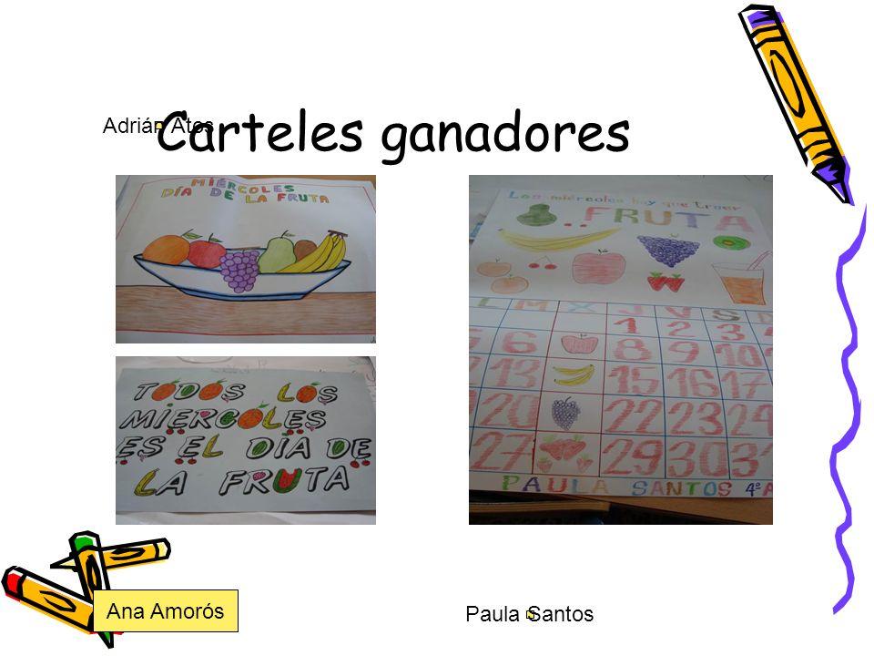 Carteles ganadores Adrián Atos Paula Santos Ana Amorós