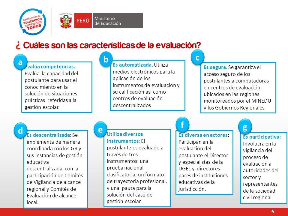 9.¿ Cuáles son las características de la evaluación.
