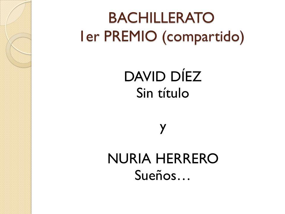BACHILLERATO 1er PREMIO (compartido) DAVID DÍEZ Sin título y NURIA HERRERO Sueños…