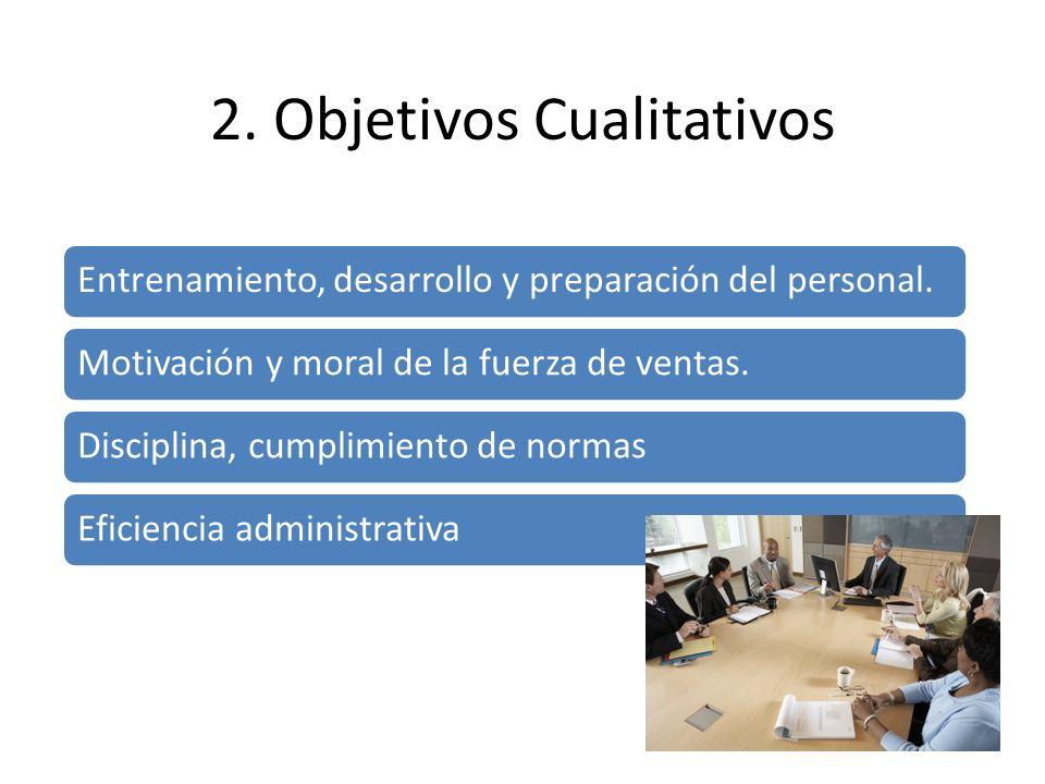 Entrenamiento, desarrollo y preparación del personal. Motivación y moral de la fuerza de ventas. Disciplina, cumplimiento de normas Eficiencia adminis