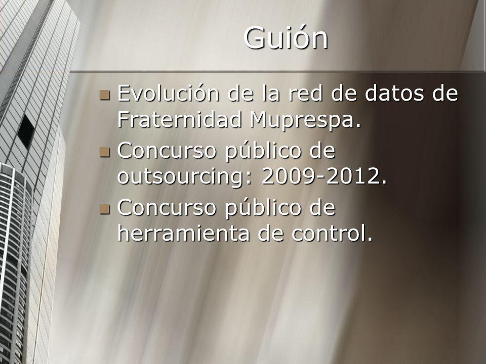 Guión Evolución de la red de datos de Fraternidad Muprespa. Evolución de la red de datos de Fraternidad Muprespa. Concurso público de outsourcing: 200