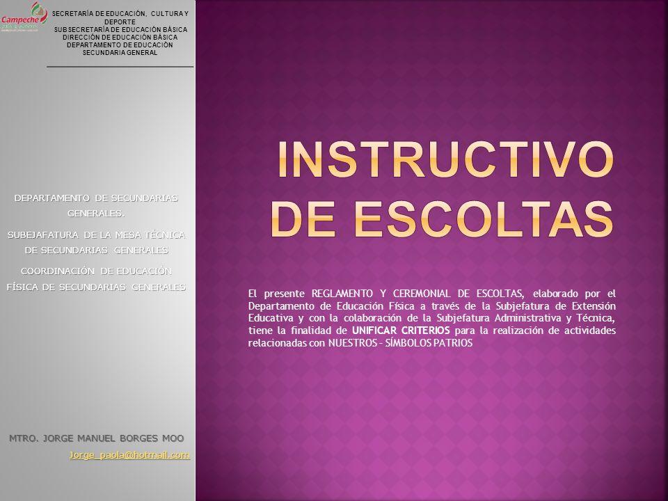 SECRETARÍA DE EDUCACIÓN, CULTURA Y DEPORTE SUBSECRETARÍA DE EDUCACIÓN BÁSICA DIRECCIÓN DE EDUCACIÓN BÁSICA DEPARTAMENTO DE EDUCACIÓN SECUNDARIA GENERA