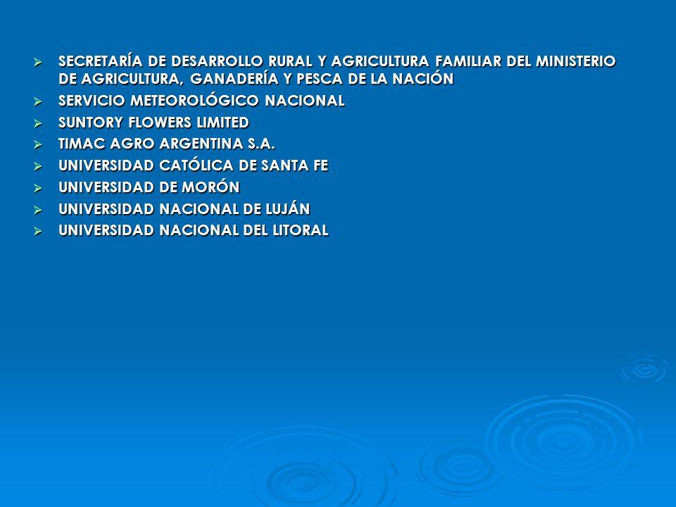 SECRETARÍA DE DESARROLLO RURAL Y AGRICULTURA FAMILIAR DEL MINISTERIO DE AGRICULTURA, GANADERÍA Y PESCA DE LA NACIÓN SECRETARÍA DE DESARROLLO RURAL Y A