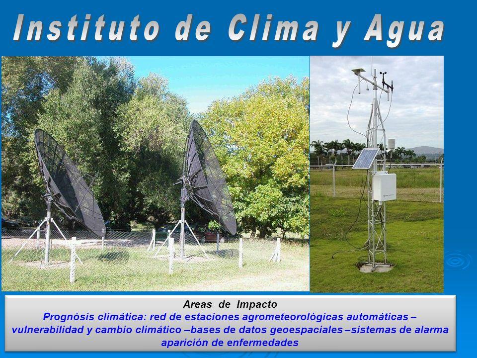 Areas de Impacto Prognósis climática: red de estaciones agrometeorológicas automáticas – vulnerabilidad y cambio climático –bases de datos geoespacial