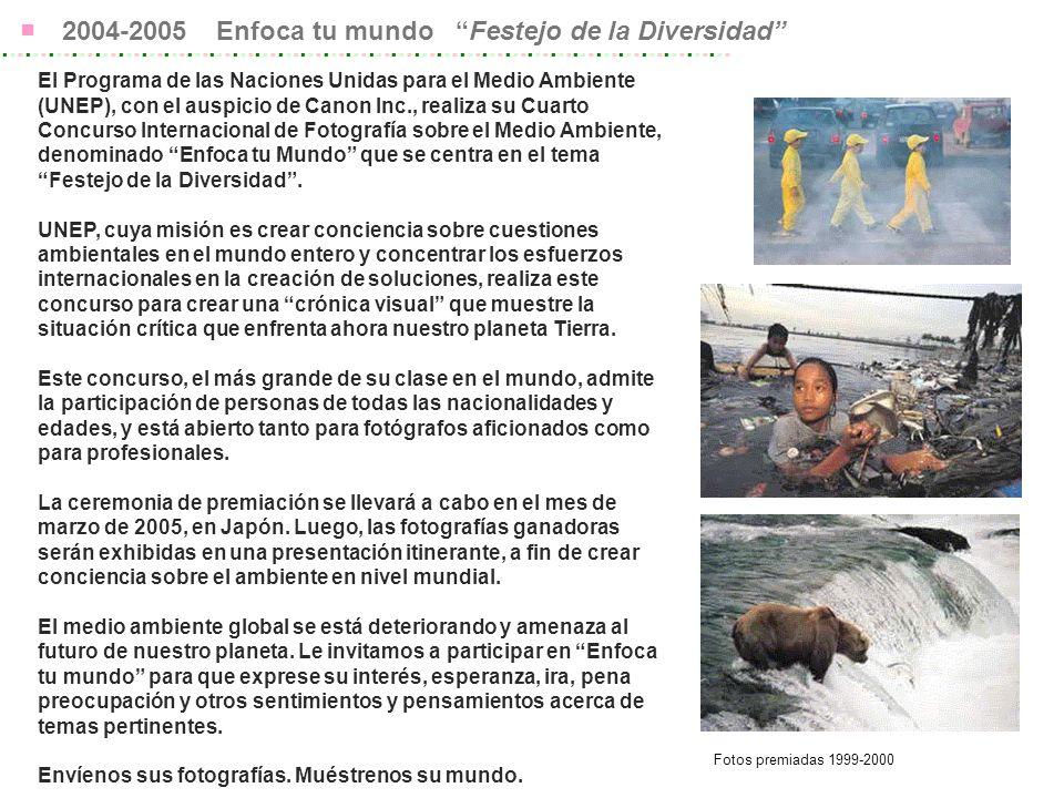 Herramientas para promoción 2 Sitio Web http://www.unep-photo.comhttp://www.unep-photo.com ENLÁZATE con el sitio Web de tu ONM o OLM Los Datos de Banderines están disponibles en COC Publicidad en TIME, National Geographic, etc.