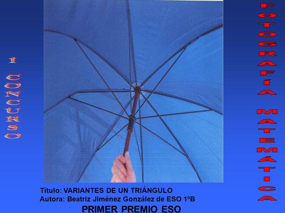Título: ¿PARALELAS? Autor: Ángel Caulín Atiénzar de ESO 4ºD SEGUNDO PREMIO ESO