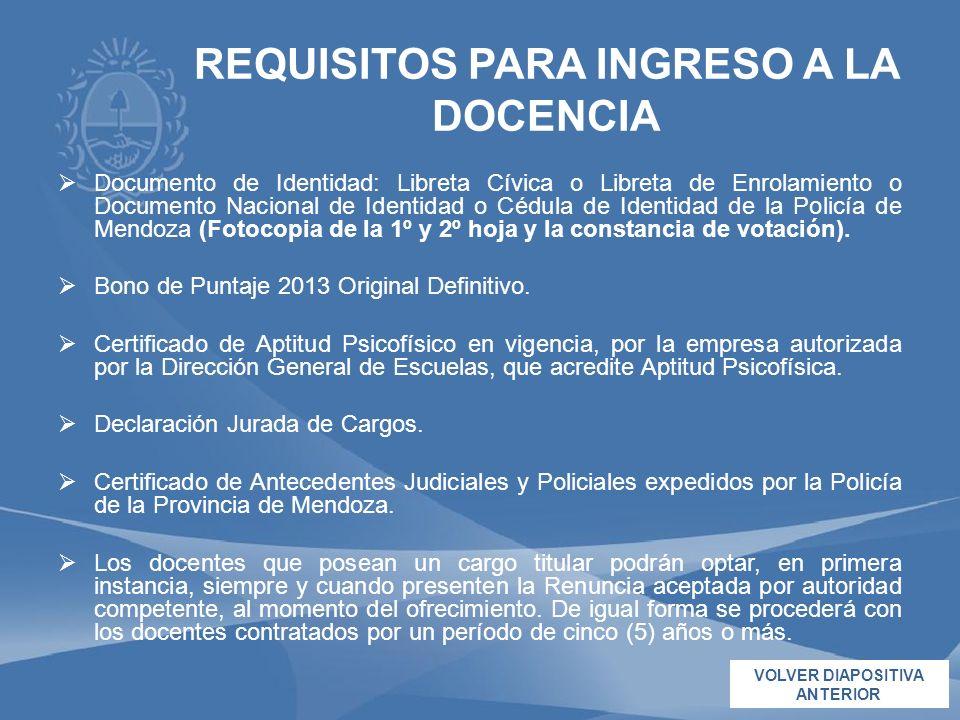 Documento de Identidad: Libreta Cívica o Libreta de Enrolamiento o Documento Nacional de Identidad o Cédula de Identidad de la Policía de Mendoza (Fot
