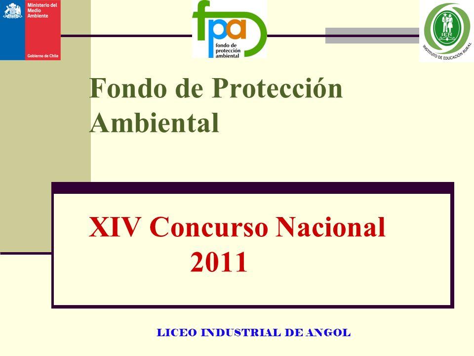 LICEO INDUSTRIAL DE ANGOL Fondo de Protección Ambiental XIV Concurso Nacional 2011