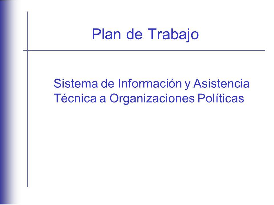 Plan de Trabajo Sistema de Información y Asistencia Técnica a Organizaciones Políticas