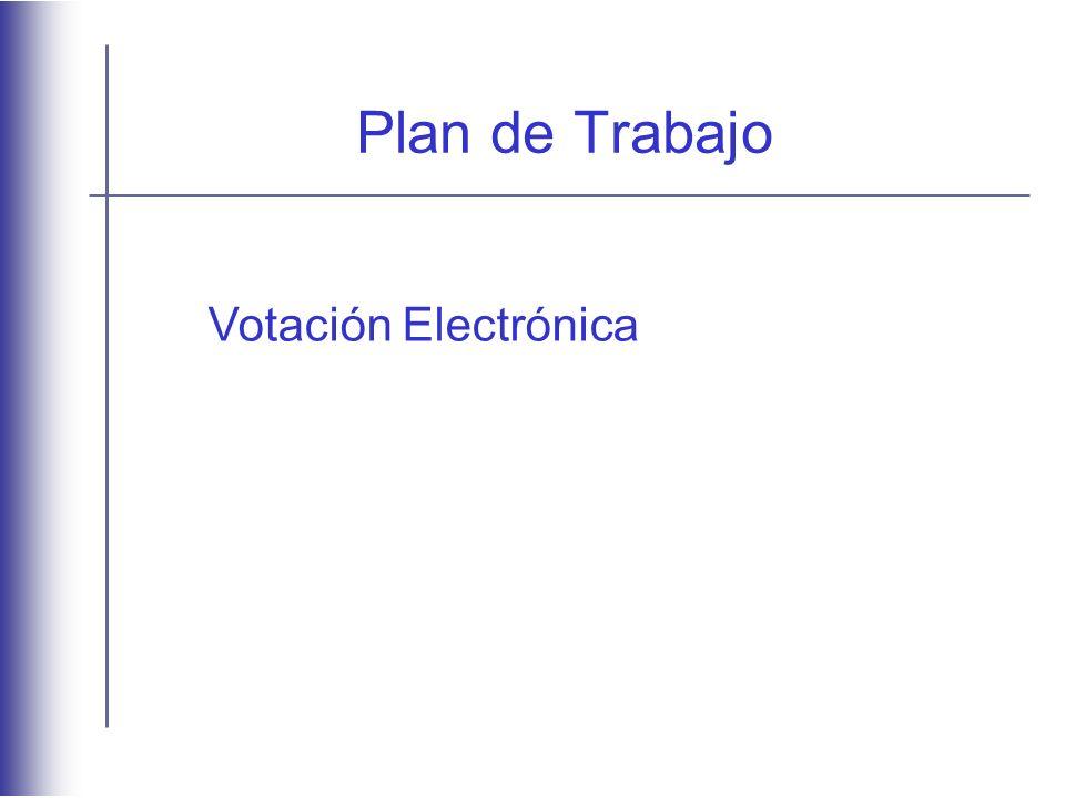 Plan de Trabajo Votación Electrónica
