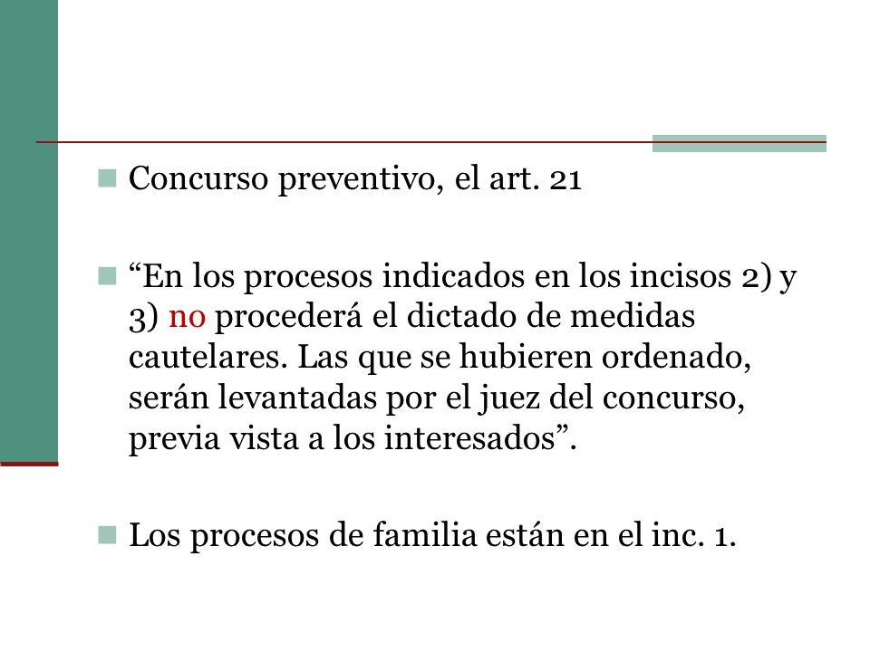 Concurso preventivo, el art.