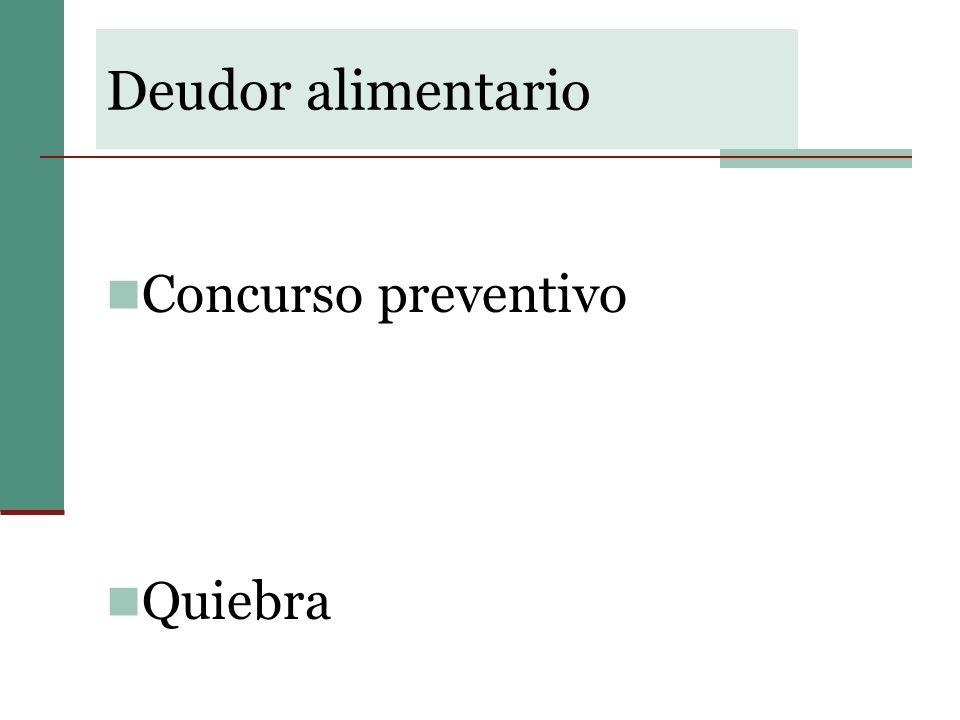 Limites a las soluciones consistentes en espera y en extinción de deudas: Deudas alimentarias Reparaciones pecuniarias dispuestas a favor de las víctimas en una condenación penal.