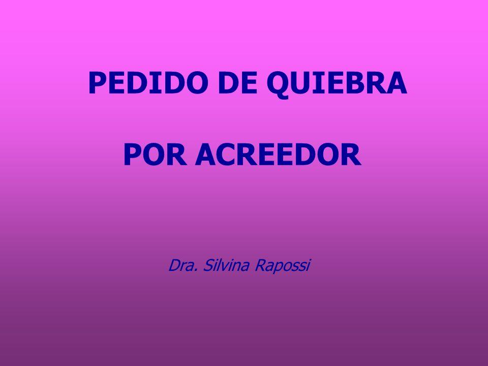 Descripción de la situación fáctica Requisito legal: insuficiencia PEDIDO DE QUIEBRA POR ACREEDOR PRIVILEGIADO Diferencia: es quirografario.