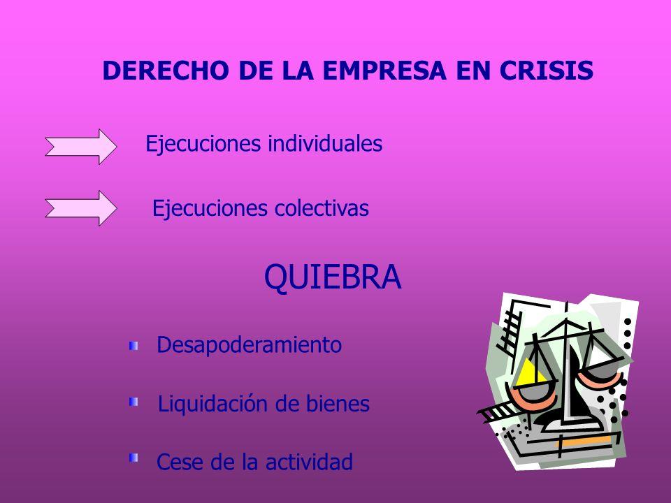 Desapoderamiento Concepto: pérdida de derechos de administración y disposición.