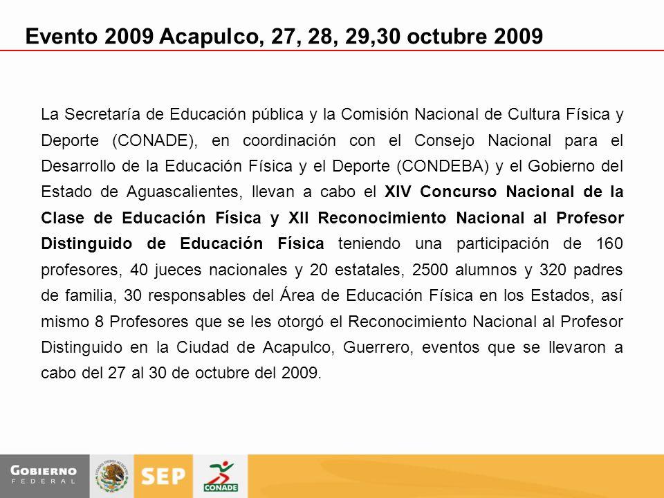 La Secretaría de Educación pública y la Comisión Nacional de Cultura Física y Deporte (CONADE), en coordinación con el Consejo Nacional para el Desarr