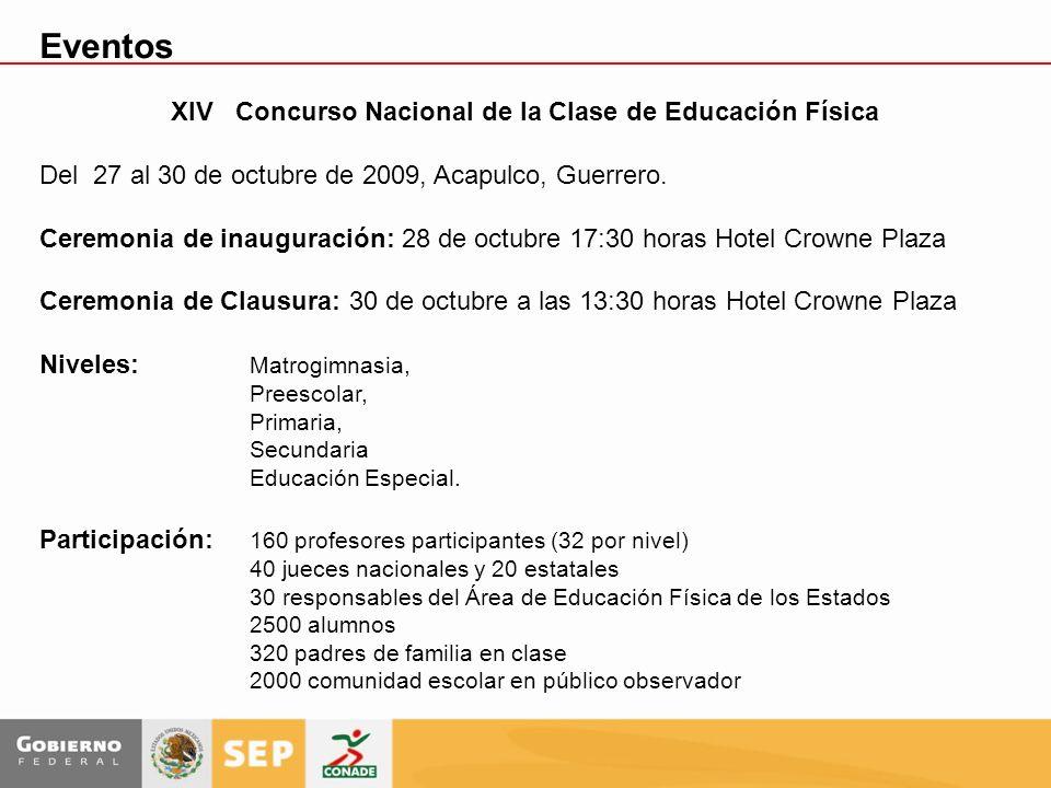 XIV Concurso Nacional de la Clase de Educación Física Del 27 al 30 de octubre de 2009, Acapulco, Guerrero. Ceremonia de inauguración: 28 de octubre 17