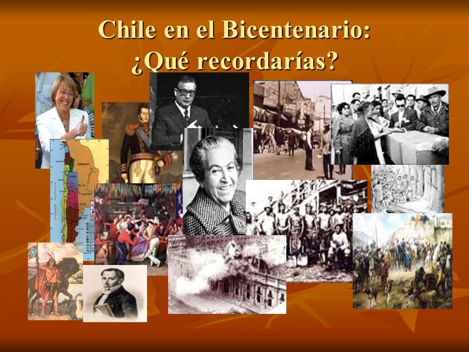 Chile en el Bicentenario: ¿Qué recordarías?