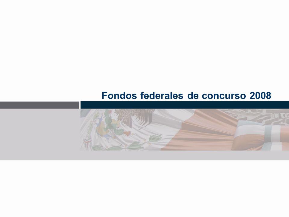 Fondos federales de concurso 2008