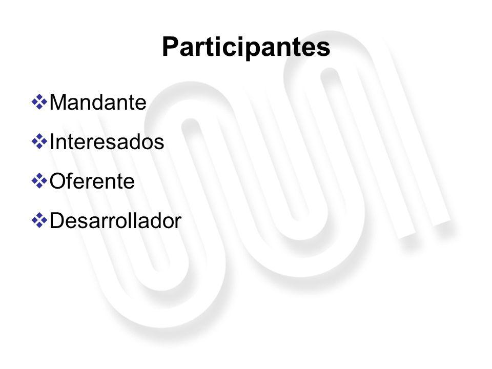 Mandante Otorga pertinencia principal al proyecto, es el principal interesado en el desarrollo del bien Encargado del mantenimiento en el tiempo de los nuevos bienes, así como de introducirles mejoras Características: Persona jurídica, con o sin fines de lucro, pública o privada, con objetivo y/o giro relacionados con el objeto del proyecto.