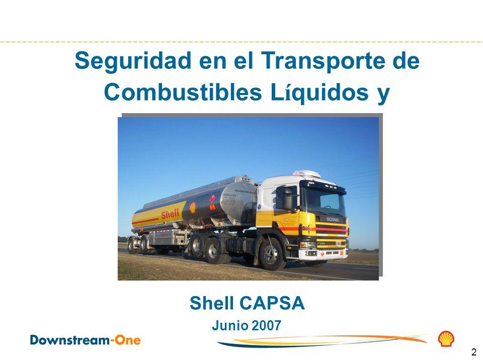 2 Seguridad en el Transporte de Combustibles L í quidos y Lubricantes Shell CAPSA Junio 2007