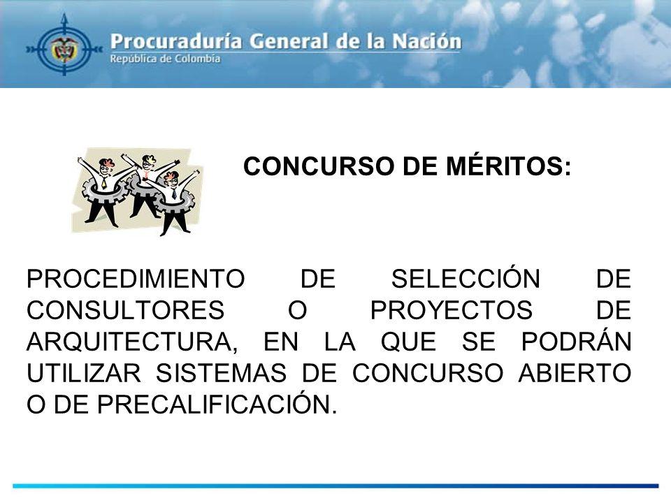 ESTUDIOS PREVIOS CONCURSO DE MÉRITOS: PROCEDIMIENTO DE SELECCIÓN DE CONSULTORES O PROYECTOS DE ARQUITECTURA, EN LA QUE SE PODRÁN UTILIZAR SISTEMAS DE
