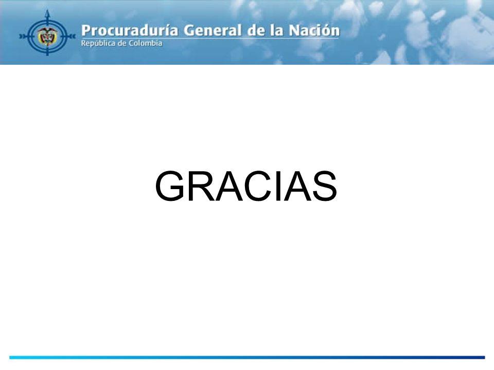 GRACIAS PROCURADURÍA GENERAL DE LA NACIÓN