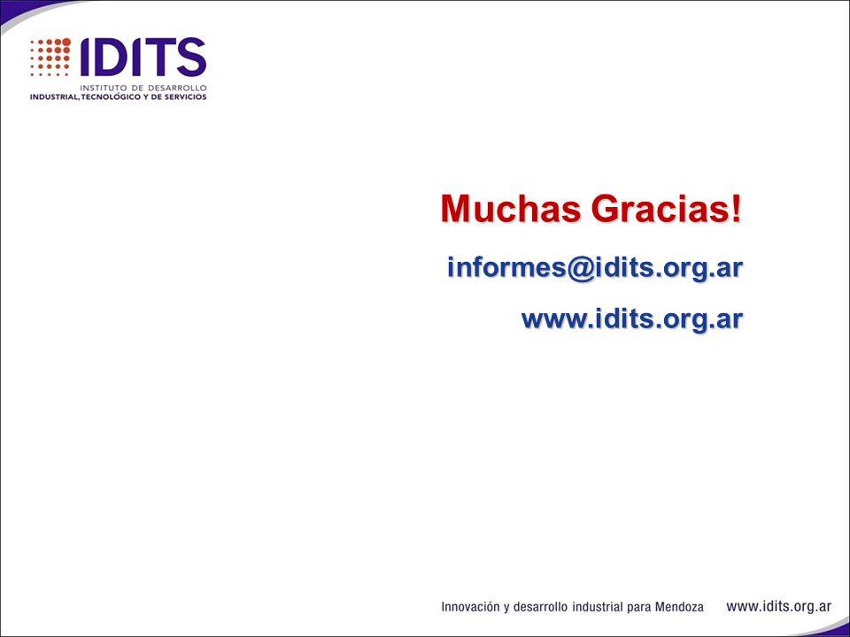 Muchas Gracias! informes@idits.org.ar www.idits.org.ar