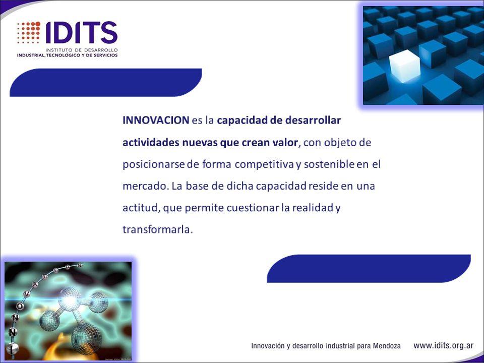 IDITS IDITS: Génesis del IDITS Planteó una mirada innovadora para la INDUSTRIA MENDOCINA.