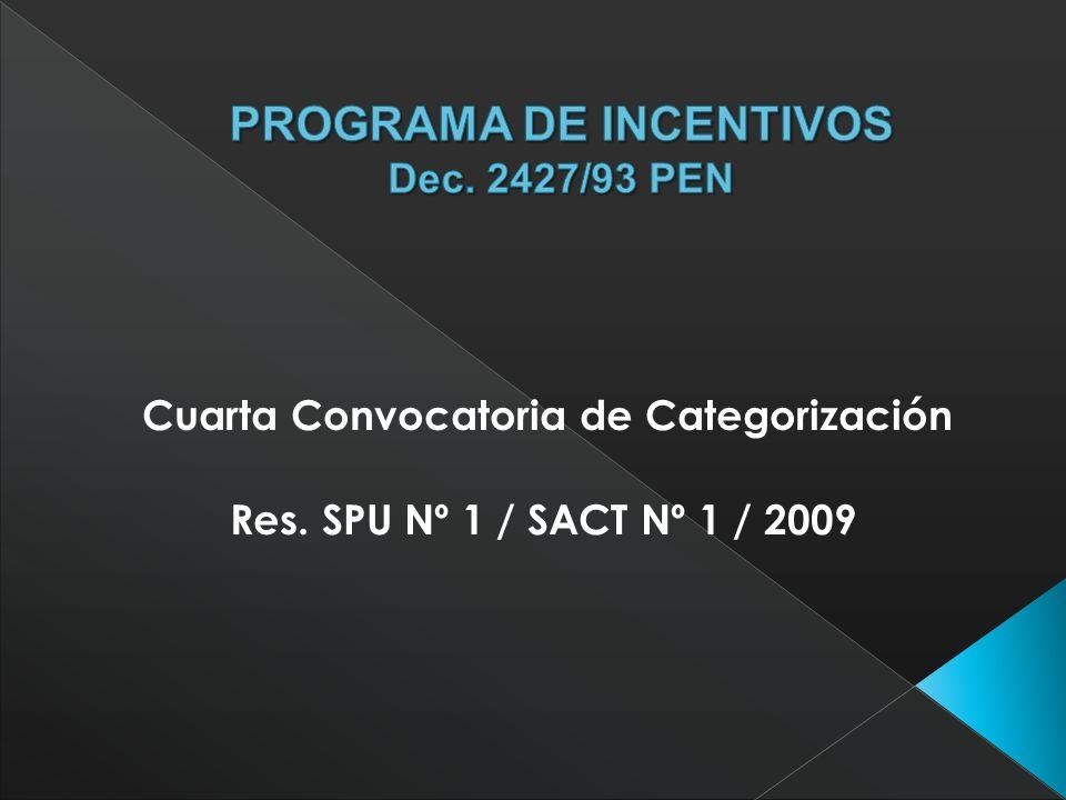 Dirigida a docentes-investigadores que: quieran ingresar o reingresar al Programa tengan una categoría asignada en la Convocatoria de 1998 y quieran continuar en el Programa tengan una categoría asignada en la Convocatoria de 2004 y deseen modificarla quienes obtuvieron su categoría en la Convocatoria de 2004 en el marco de la Res.181/04 SPU y 636/04 SCTIP