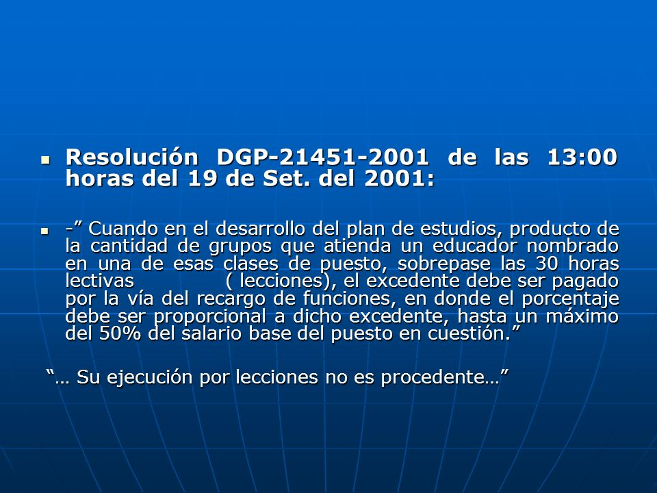 Resolución DGP-21451-2001 de las 13:00 horas del 19 de Set.