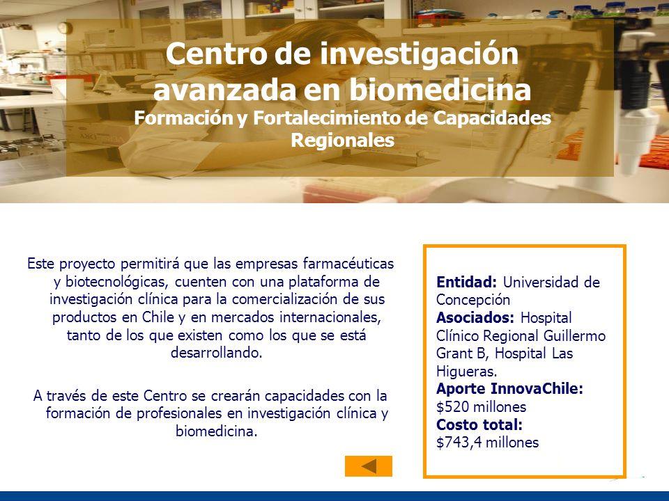 Este proyecto permitirá que las empresas farmacéuticas y biotecnológicas, cuenten con una plataforma de investigación clínica para la comercialización de sus productos en Chile y en mercados internacionales, tanto de los que existen como los que se está desarrollando.