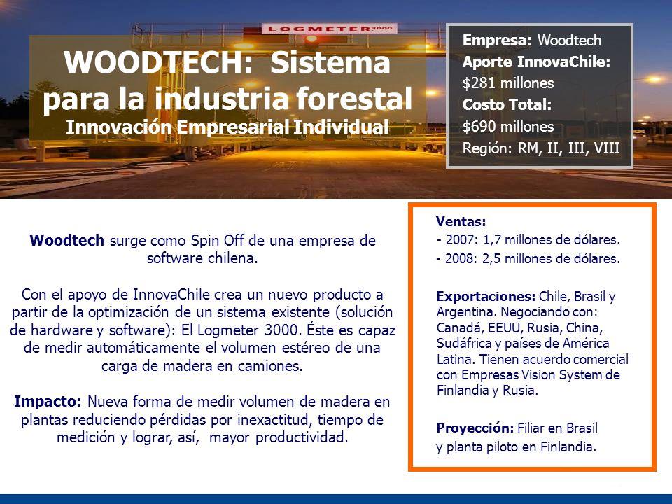 Woodtech surge como Spin Off de una empresa de software chilena.