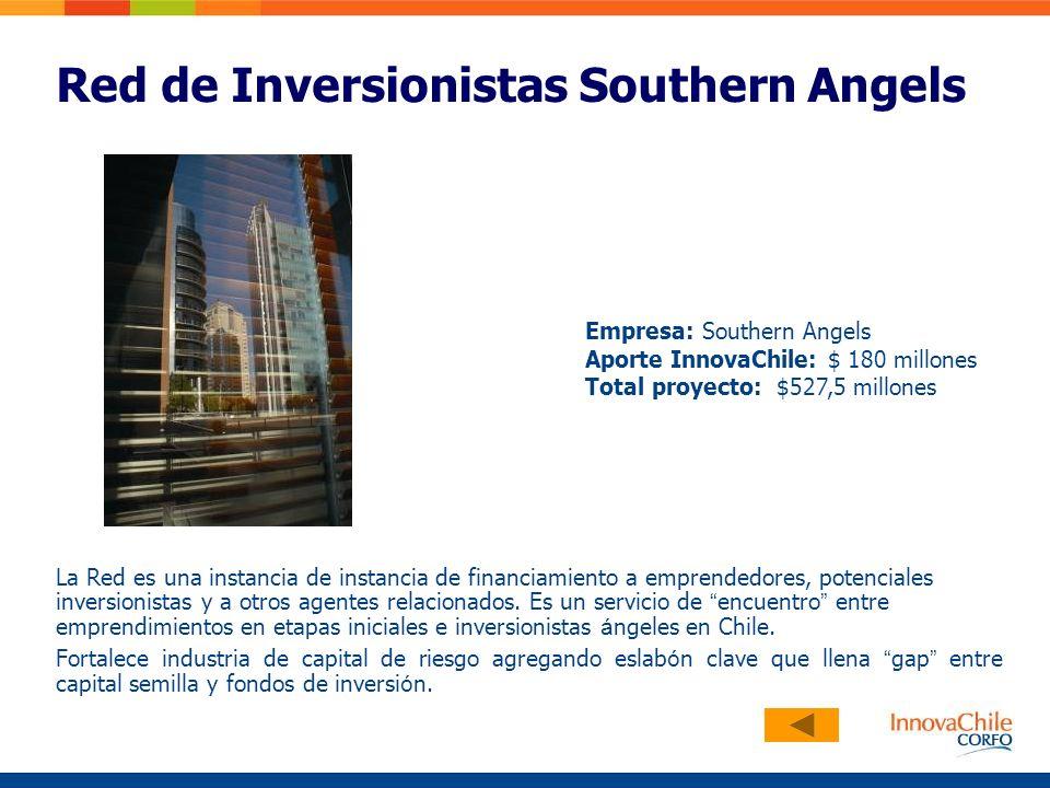 Red de Inversionistas Southern Angels La Red es una instancia de instancia de financiamiento a emprendedores, potenciales inversionistas y a otros agentes relacionados.